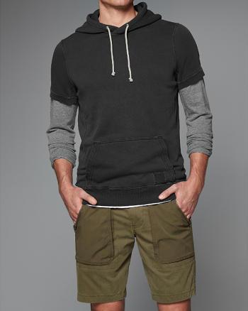 ANF Short Sleeve Garment Dye Hoodie