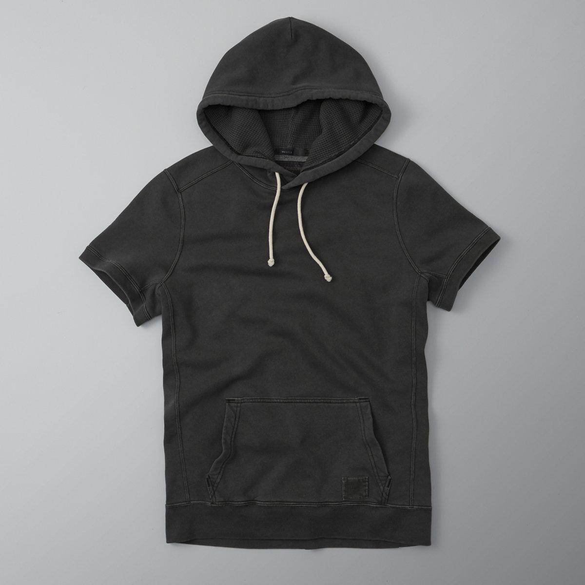 Short Sleeve Garment Dye Hoodie