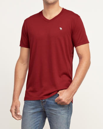 ANF Muscle Fit V-Neck Tee