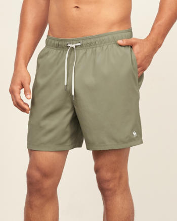 "ANF 5"" Guard Fit Swim Shorts"