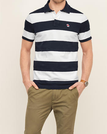 ANF Striped Polo Shirt