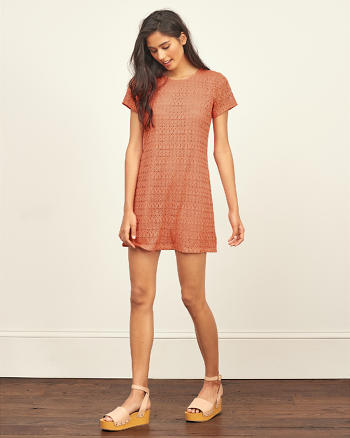 ANF Pointelle Shift Dress