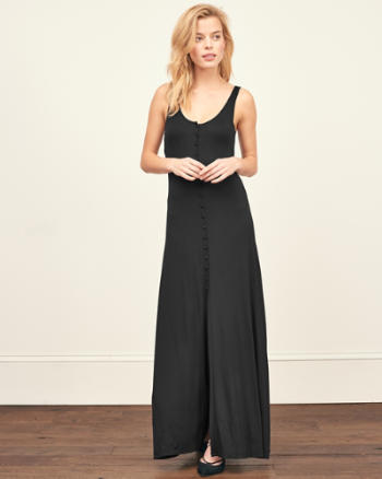 Womens Button Down Maxi Dress