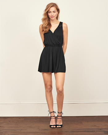 ANF Lace Wrap Front Romper