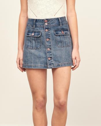 ANF Denim A-Line Skirt