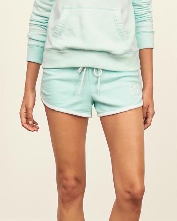 ANF Logo Fleece Curved Hem Shorts