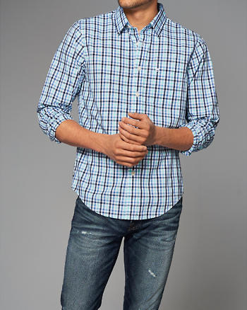 ANF Plaid Button-Up Shirt