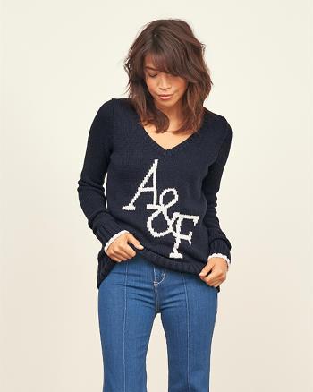 ANF Intarsia Logo Sweater