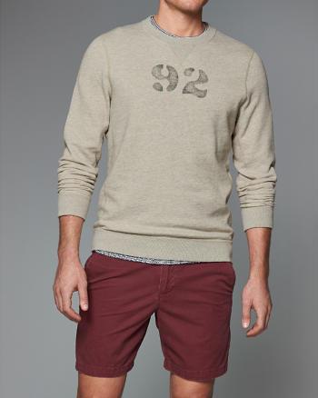 ANF Vintage Wash Logo Crew Sweatshirt