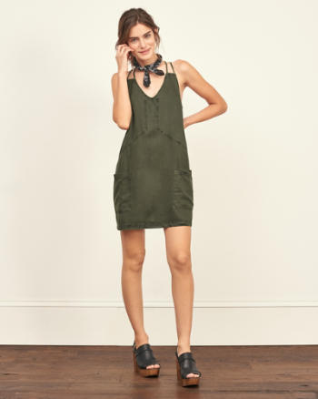 Womens Tencel Shift Dress