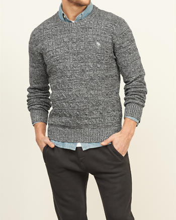 ANF Cable Knit Crew Sweater