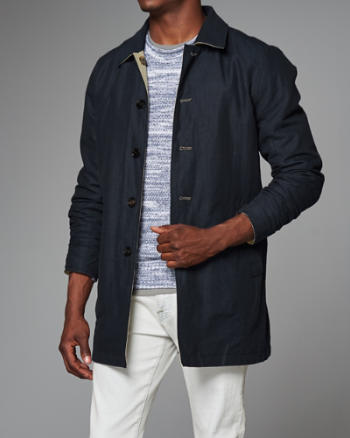 Mens Reversible Trench Coat