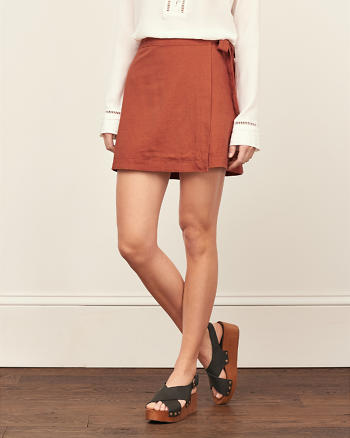 ANF A-Line Wrap Skirt