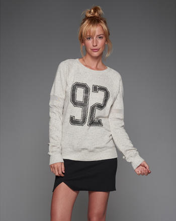 ANF Mesh Sleeve Sweatshirt