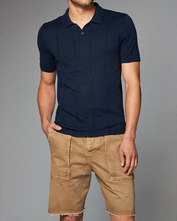ANF Wool Blend Sweater Polo