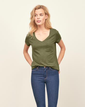 ANF Easy V-Neck Tee