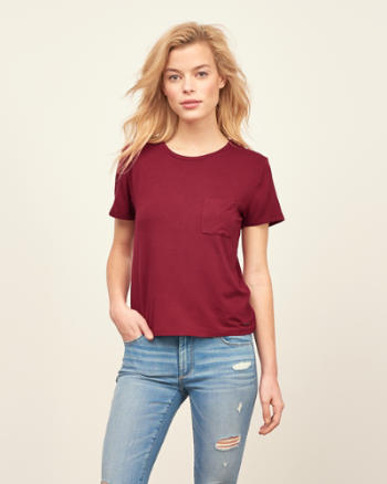 Womens Cropped Crew Tee
