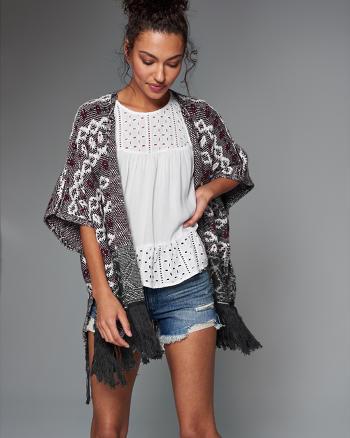 ANF Patterned Kimono Sweater