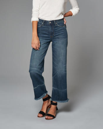 ANF Cropped Stovepipe Jeans