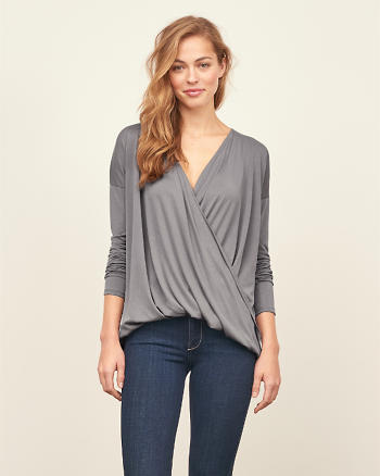 ANF Wrap Front Top