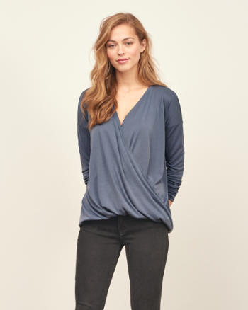 Womens Wrap Front Top