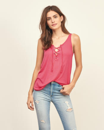 ANF Lace Up Tank