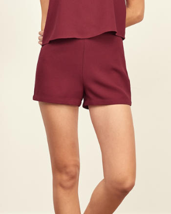 Womens Crepe Tap Short