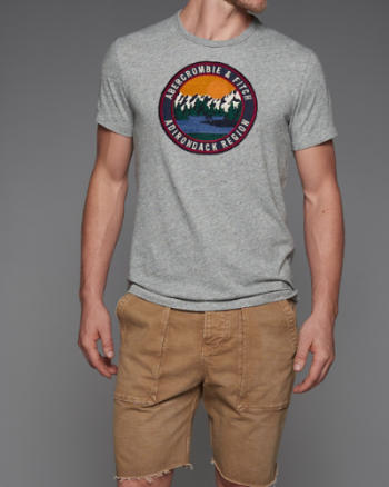 Mens Heritage Logo Graphic Tee