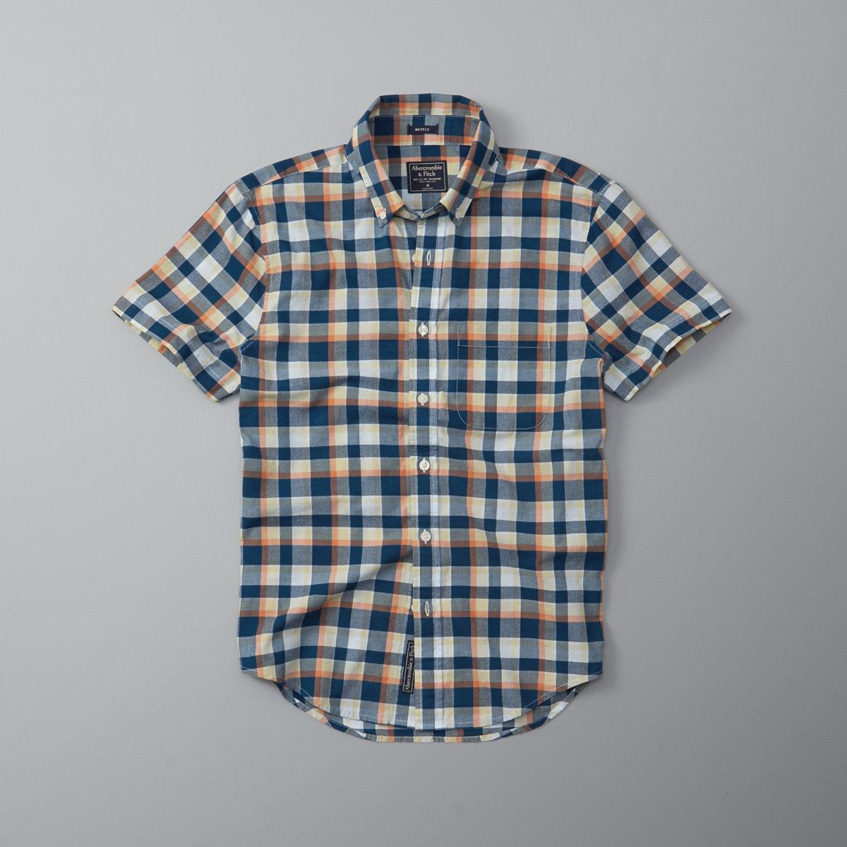 Plaid Madras Short Sleeve Shirt