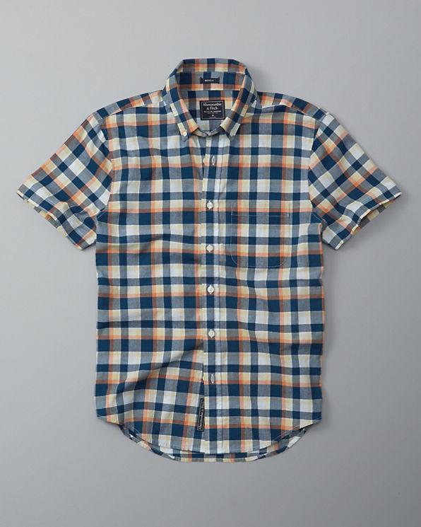Mens plaid madras short sleeve shirt mens sale for Mens madras shirt sale