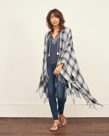 ANF Drapey Blanket Poncho