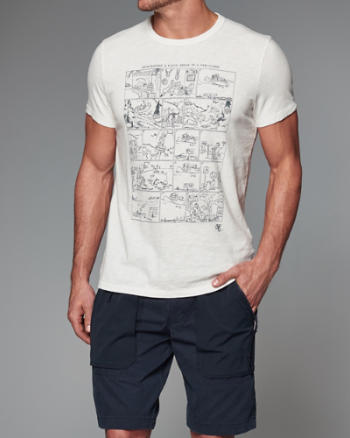 Mens Catalog Comic Graphic Tee