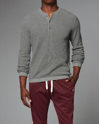 ANF Waffle Henley Sweater