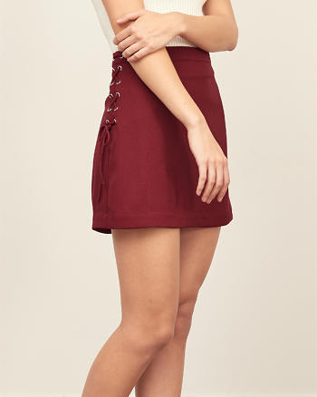ANF Lace Up A-Line Skirt