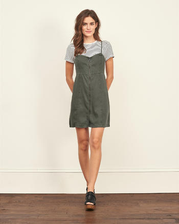 ANF Zip Front Skater Dress