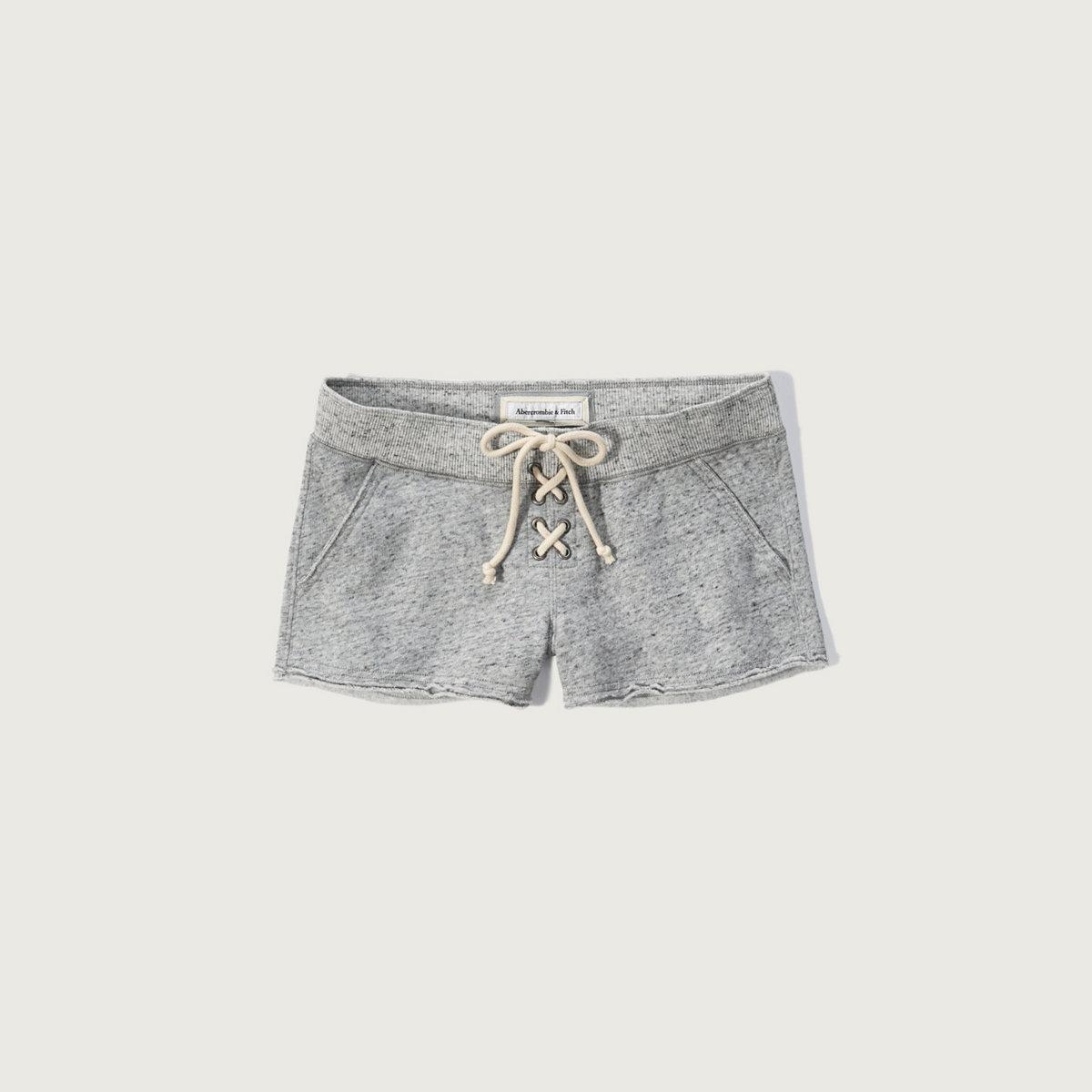 Lace Up Fleece Shorts