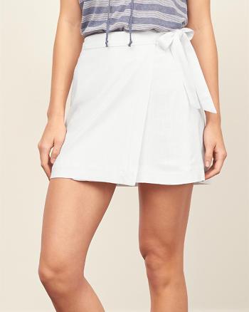 ANF Linen A-Line Wrap Skirt
