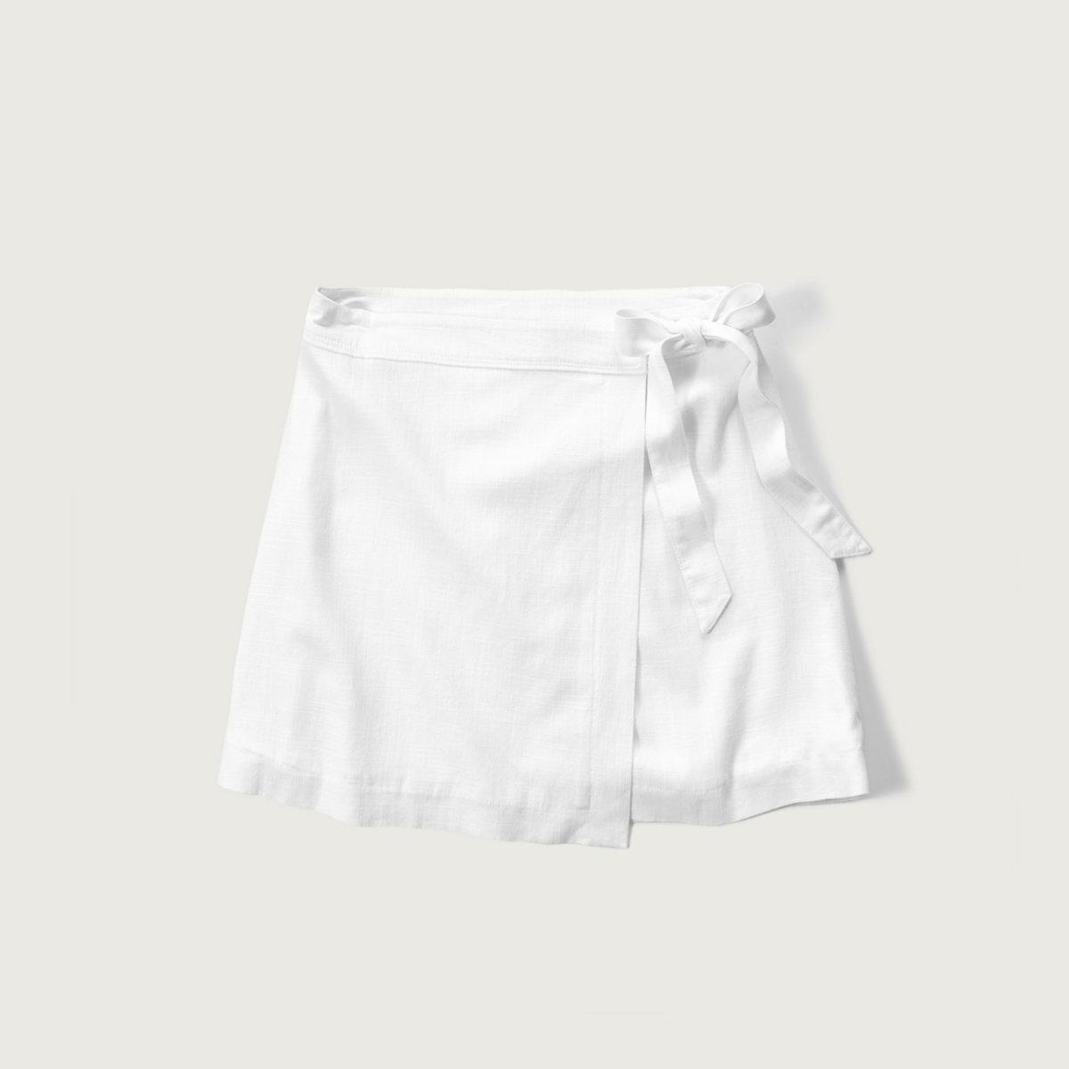 Linen A-Line Wrap Skirt