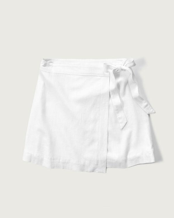 womens linen a line wrap skirt womens bottoms