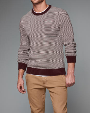 Mens Contrast Color Crew