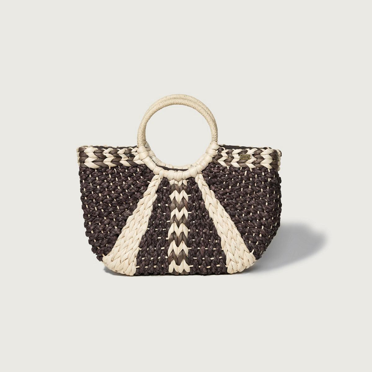Woven Straw Basket Bag
