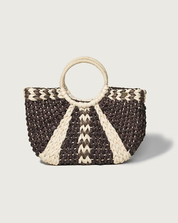 ANF Woven Straw Basket Bag