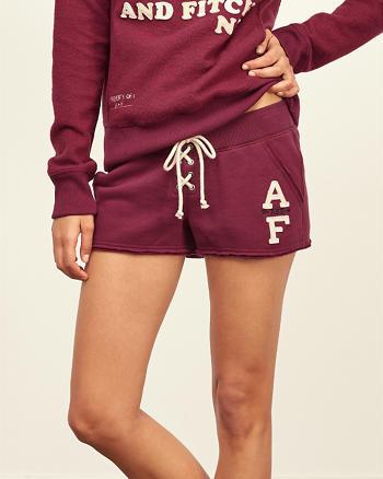 ANF Logo Lace Up Fleece Shorts