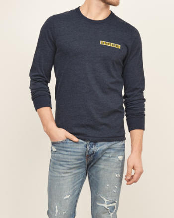 Mens Logo Graphic Long Sleeve Tee