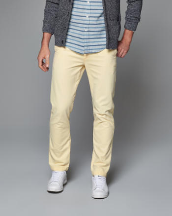Mens Slim Straight Chinos