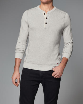 Mens Henley Sweatshirt