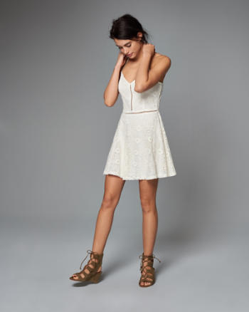 ANF Lace Skater Dress
