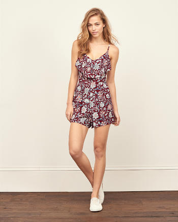 ANF Ruffle Front Romper