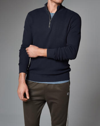 Mens Technical Mock Neck Pullover