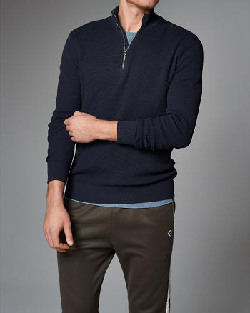 ANF Technical Mock Neck Pullover